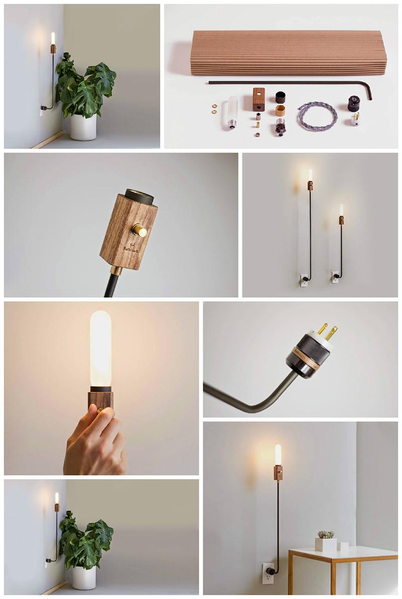 Feldmark - illuminazione in legno e metallo